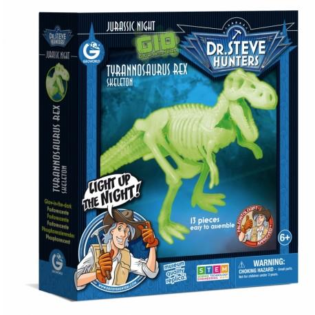 Bouwpakket Glow-In-The-Dark - Tyrannosaurus Rex