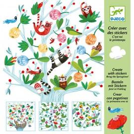 Djeco Knutselpakket Maken met Stickers Lente