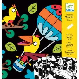 Djeco Knutselpakket Viltkleurplaten Vogels