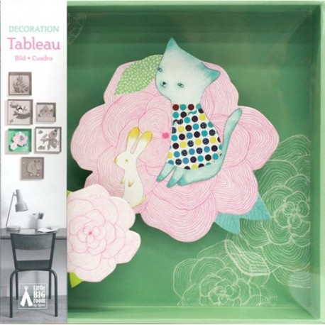 Djeco Katten met Balonnen Schilderij/Tabeau