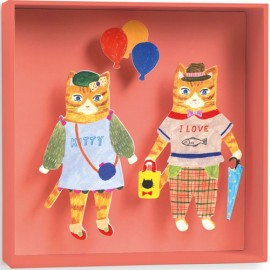 Djeco Schilderij/Tabeau Katten met Balonnen Schilderij/Tabeau
