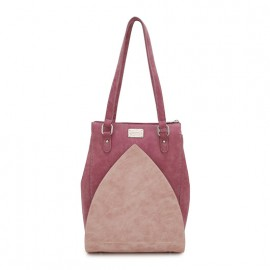 Hi Di Hi Schoudertas Shopper Heather Donker Rood-Roze