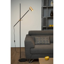 Vloerlamp Philine Zwart-Goud