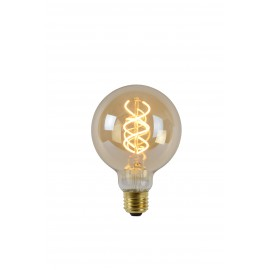 LED Bulb - Filament lamp - Ø 9,5 cm - LED Dimb. - E27 - 1x5W 2200K - Amber