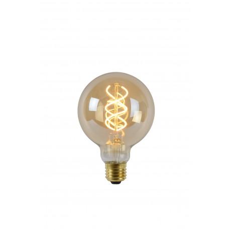 LED Bulb - Filament lamp - Ø 9,5 cm - LED Dimb. - E27 - 1x5W 2200K - Amber