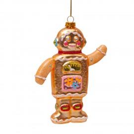Kerstbal Gingerbread Robot