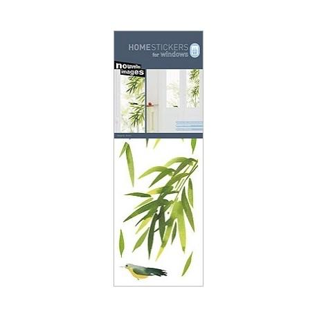 Raamstickers Bamboe met Vogel