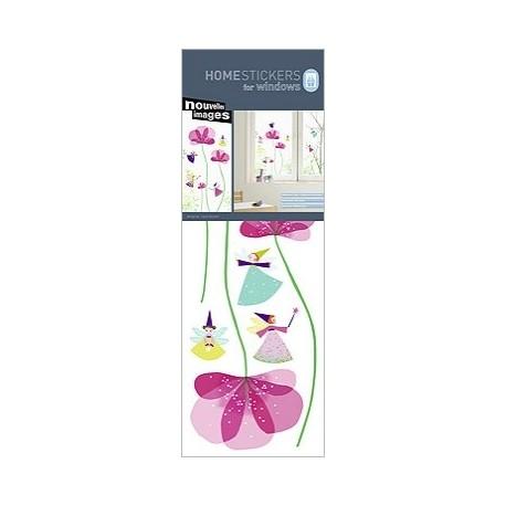 Raamstickers Feetjes en Bloemen