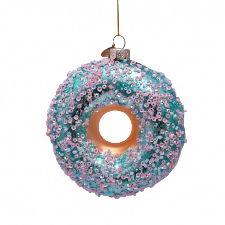 Kerstbal Donut Mint