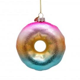 Kerstbal Donut Regenbooog