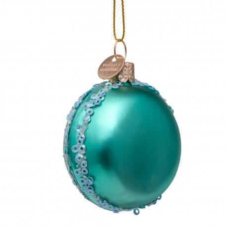 Kerstbal Macaron Blauw
