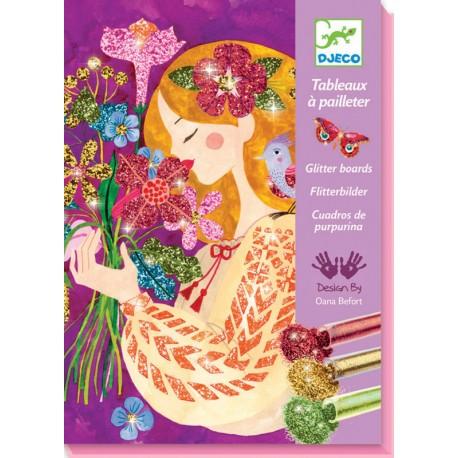 Djeco Glitter Schilderijen Geurende Bloemen