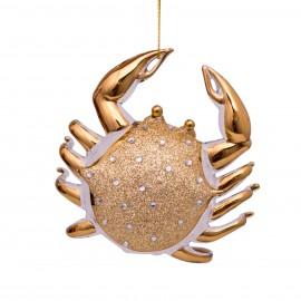 Kerstbal Crab Diamanten Goud