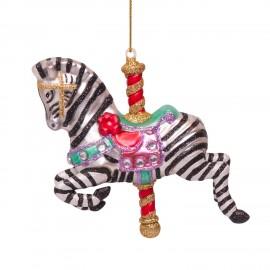 Kerstbal Draaimolen Paard