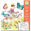 Djeco Knutselpakket Kleuren die Verrassen Lady Butterfly
