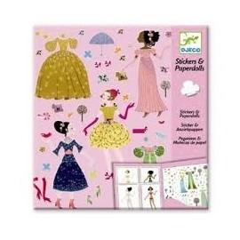 Djeco Knutselpakket Stickers en Poppetjes van papier