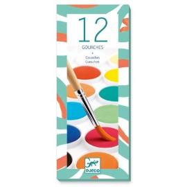 Djeco Waterverf 12 Kleuren