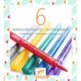 Djeco Glitter Markers 6 stuks