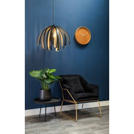 Leitmotiv Hanglamp Willow Zwart Goud Large