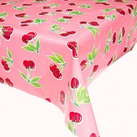 Kitch Kitchen Tafelzeil Kleine Kersen op Roze