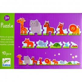 Djeco Puzzel 10 stukjes Grote en Kleine Dieren