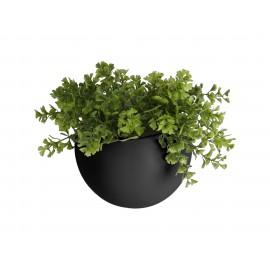 Wandpot Globe Mat Zwart