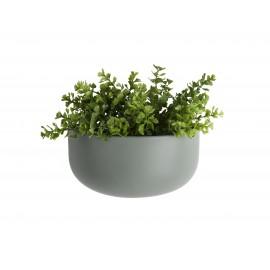 Wandpot Oval Wide Mat Groen