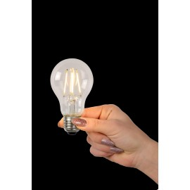 LED BULB - Filament lamp - Ø 6 cm - LED Dimb. - E27 - 1x5W 2700K - Transparant