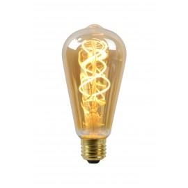 LED Bulb - Filament lamp - Ø 6,4 cm - LED Dimb. - E27 - 1x5W 2200K - Amber