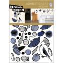 Muursticker Blauwe Bloemen met Vogels