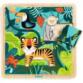 Djeco Houten Puzzel Jungle
