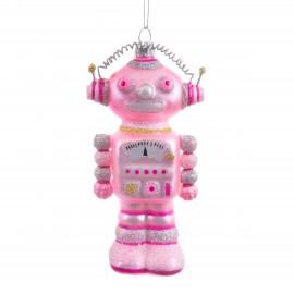 Kerstbal Glitter Robot