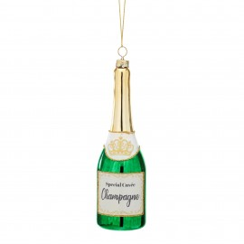 Kerstbal Fles Champagne