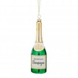 Kerstbal Fles Champagne