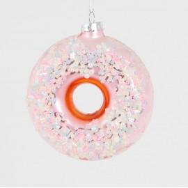 Kerstbal Donut Roze