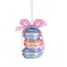Kerstbal Macarons Blauw