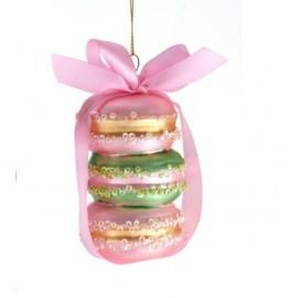 Kerstbal Macarons Roze