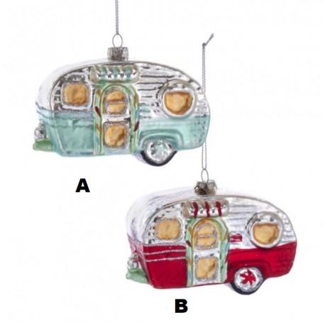 Kerstbal Retro Caravan