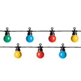 Lichtsnoer buiten 20 Lichts LED Multicolour 9,5 Meter
