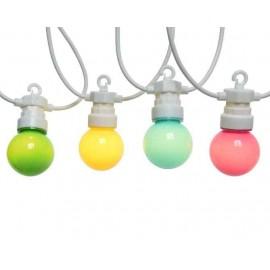 Lichtsnoer buiten 20 Lichts  LED Soft Multicolour 9,5 Meter