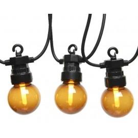 Lichtsnoer buiten 20 Lichts LED Rookglas 9,5 Meter