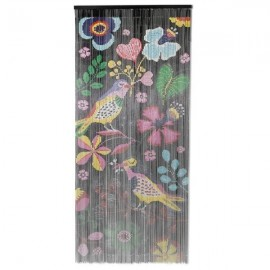 Deurgordijn Bamboe Vogels en Bloemen