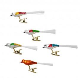 Set van 5 Retro Vogels op Clip
