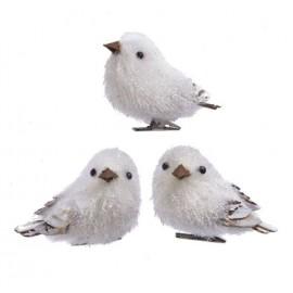 Set van 3 Klatergoud Vogels op Clip