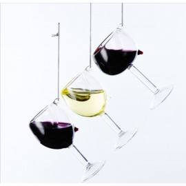 Kerstbal Wijnglas