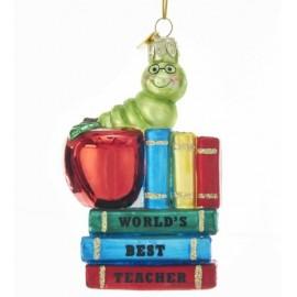 Kerstbal Boekenwurm