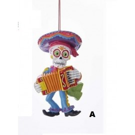 Kerstbal Day of the Dead Muziekant