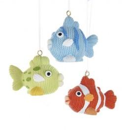 Set van 3 Vissen Kerstballen