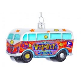 Kerstbal Woostock Hippie Bus