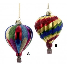 Kerstbal Heteluchtballon Ø 9cm